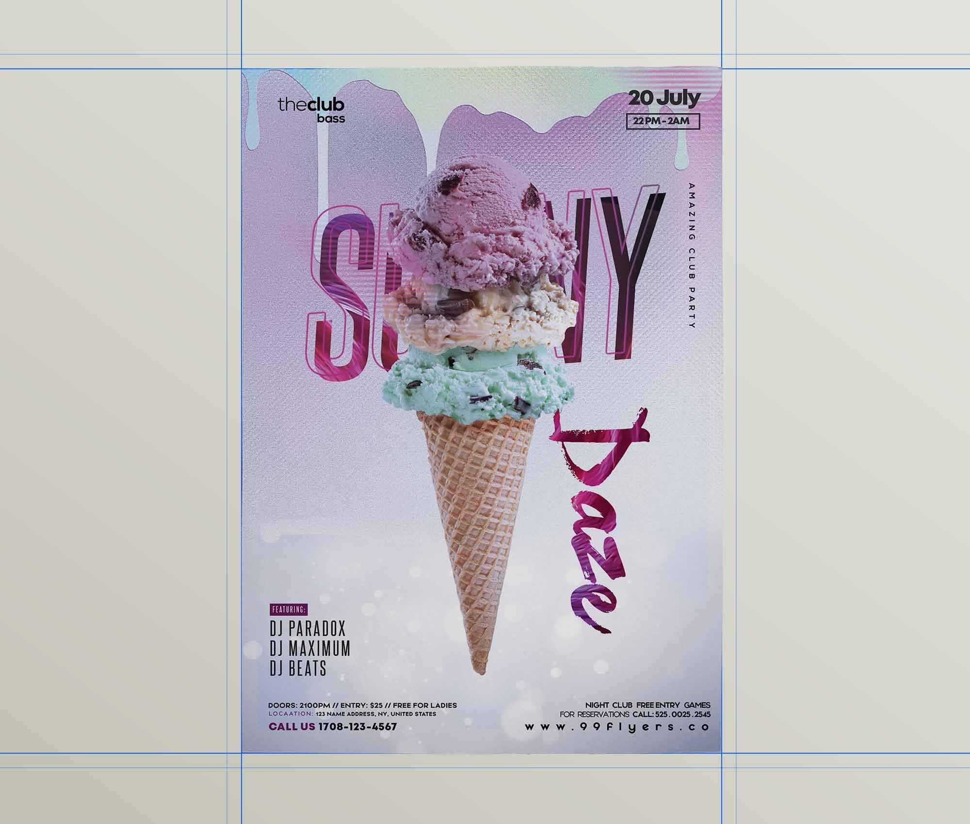 Ice Cream Flyer Template 2