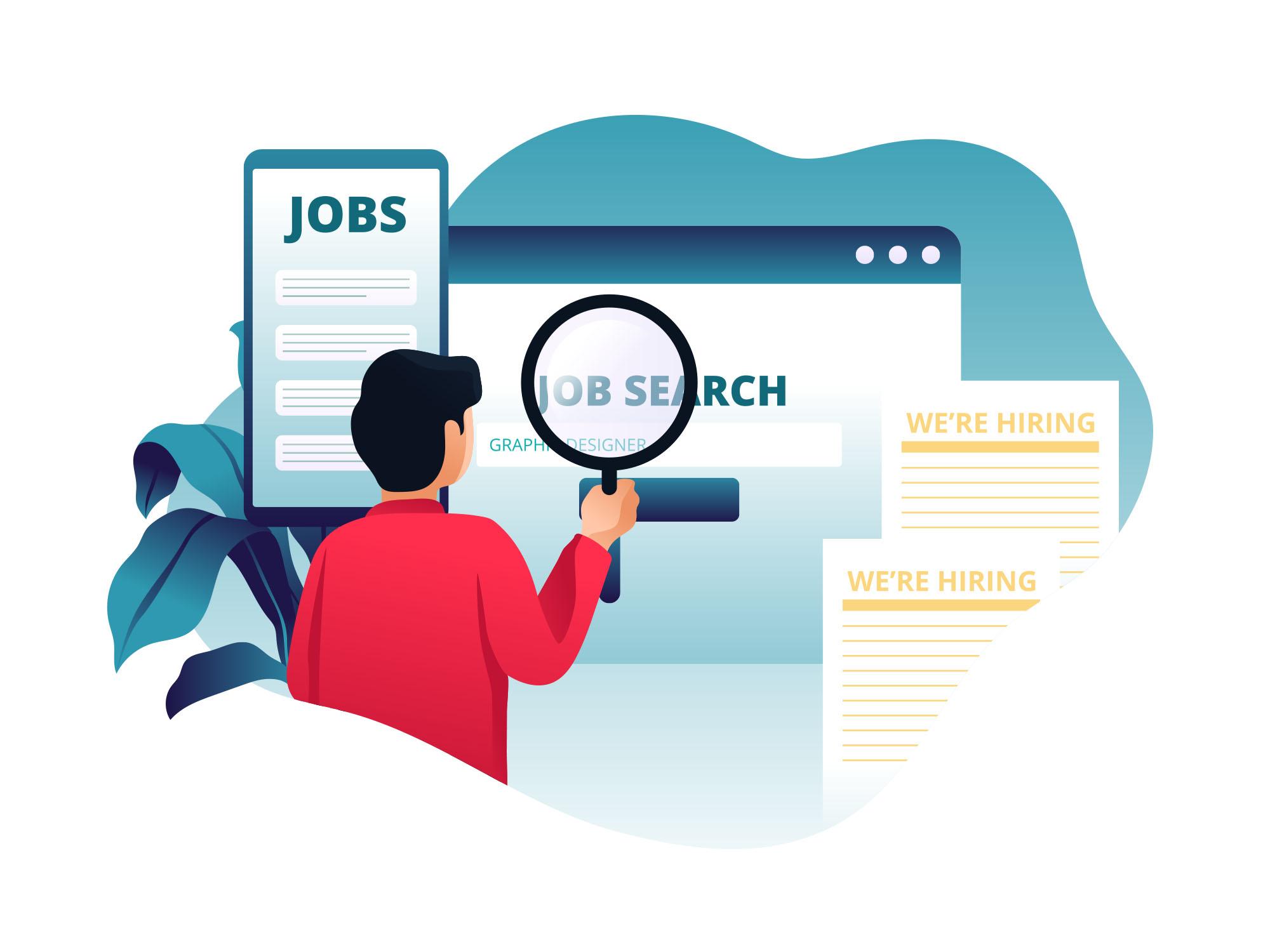 Job Hunting Illustration