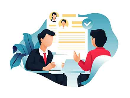 Job Interview Illustration
