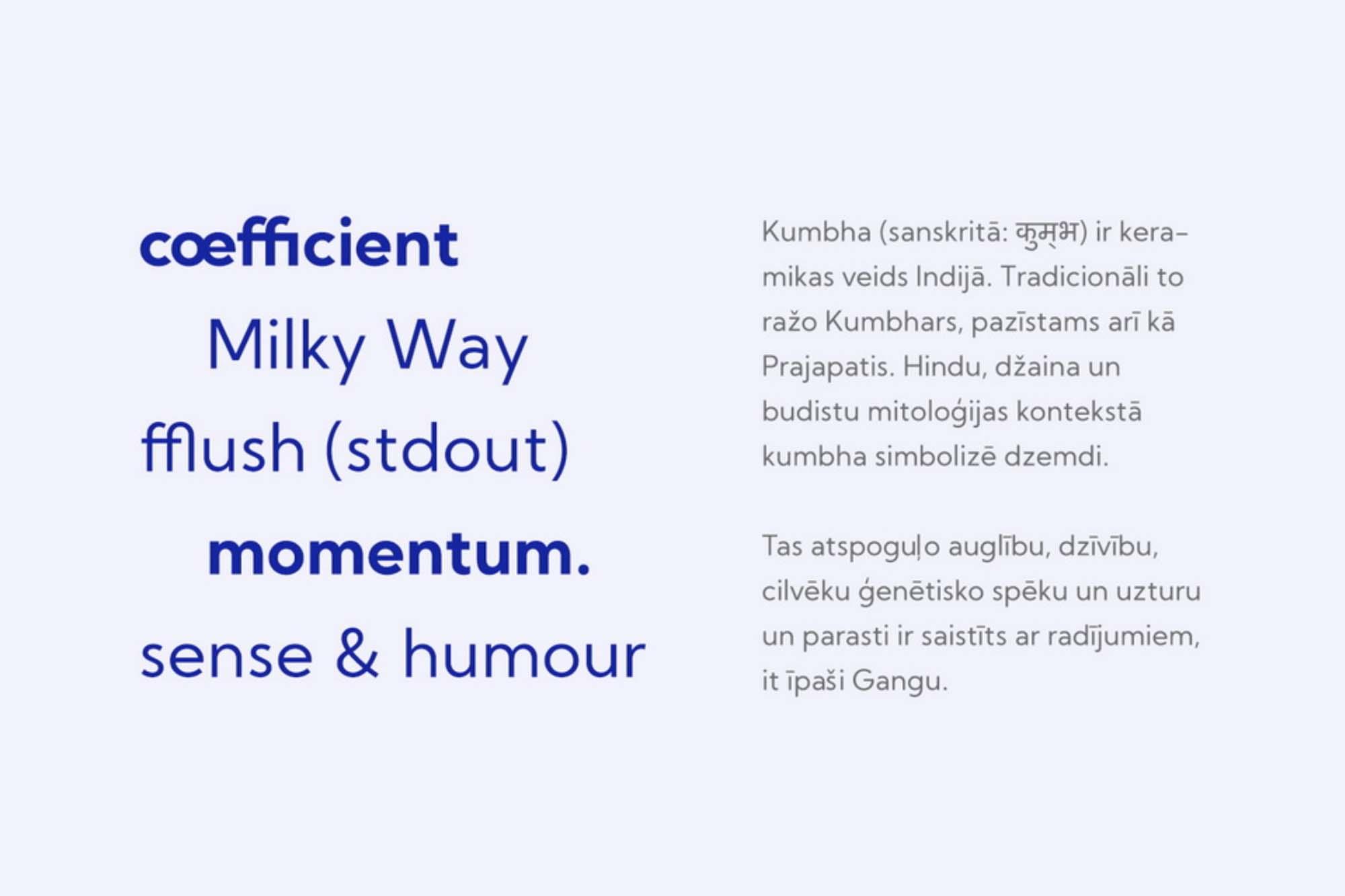 Kumbh Sans Typeface 3