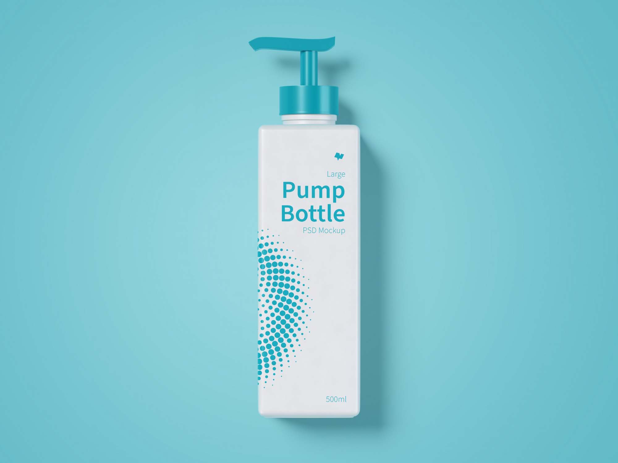 Large Pump Bottle Mockup 2