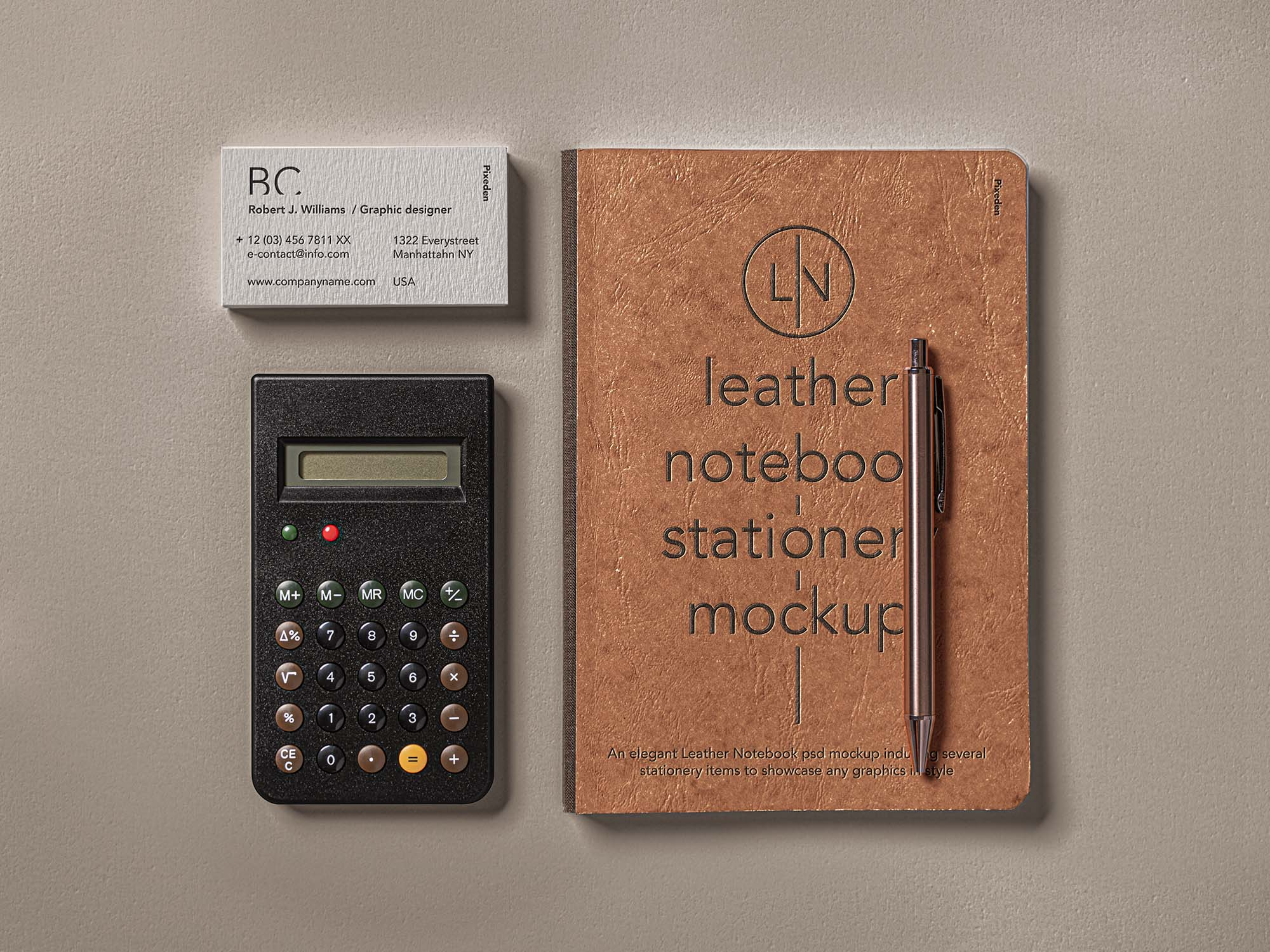 Leather Cover Notebook Mockup