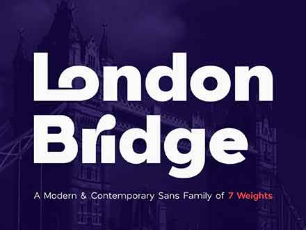 London Bridge Font Family