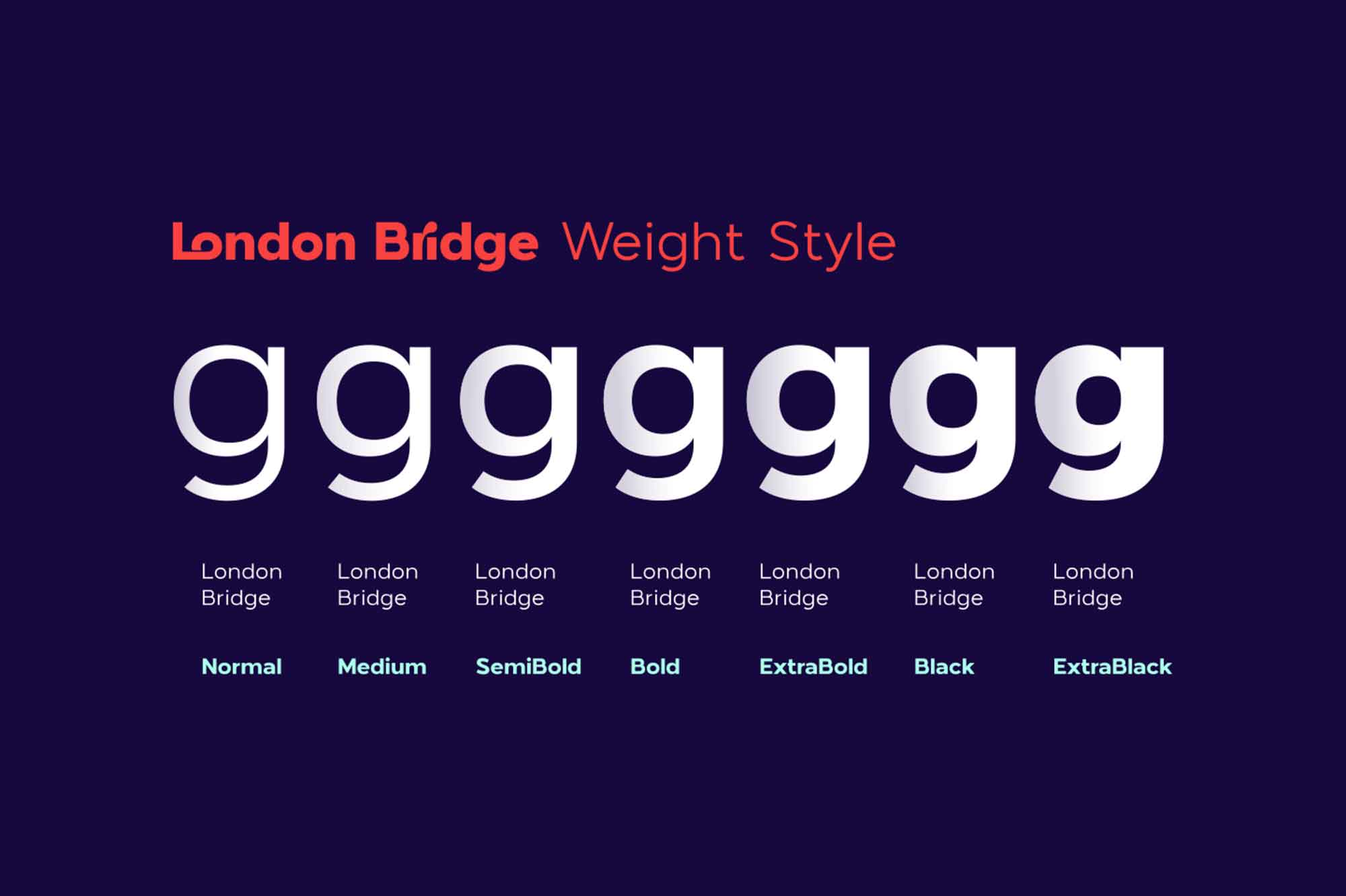 London Bridge Font Family 8