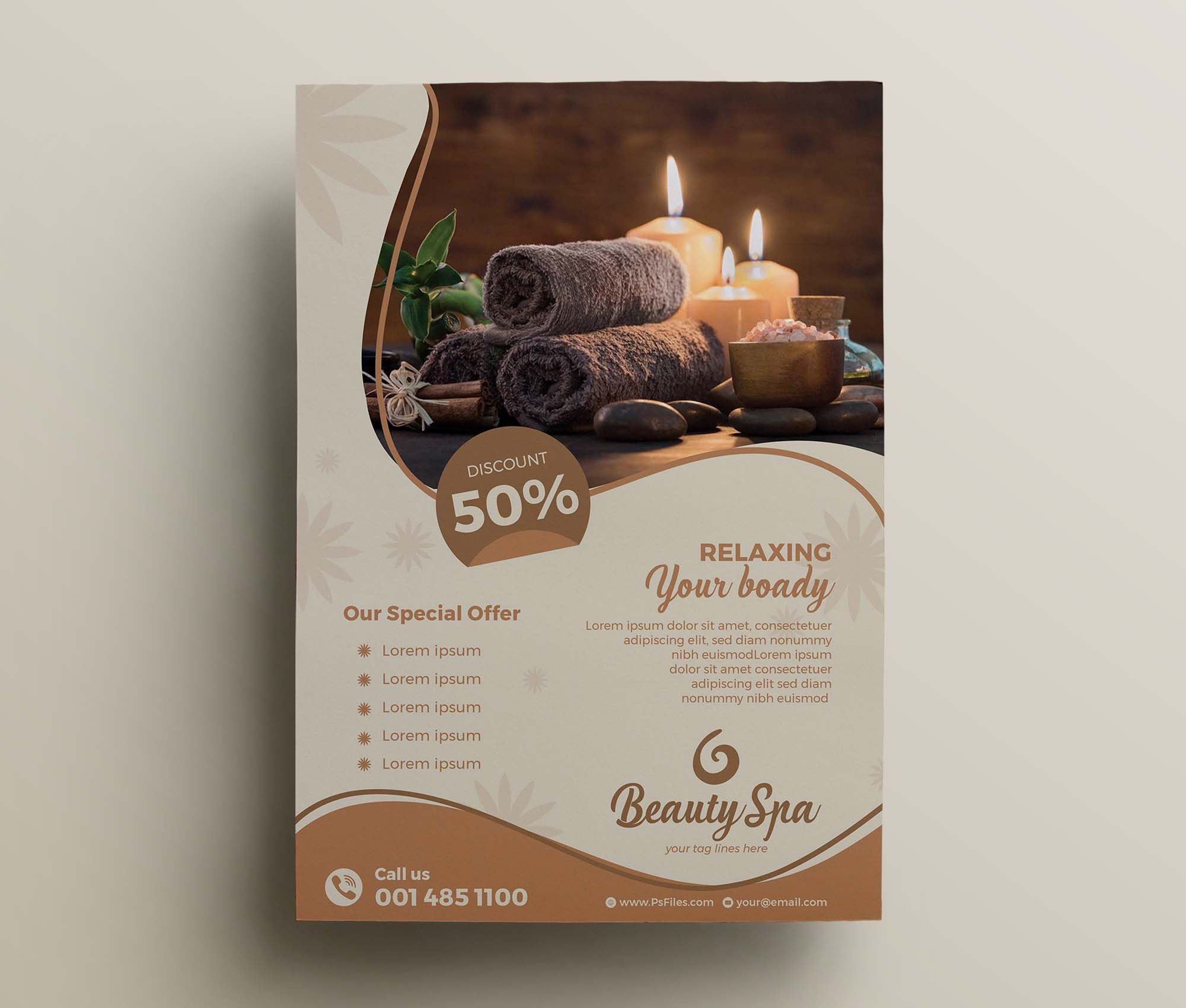 Luxury Beauty Spa Flyer Template