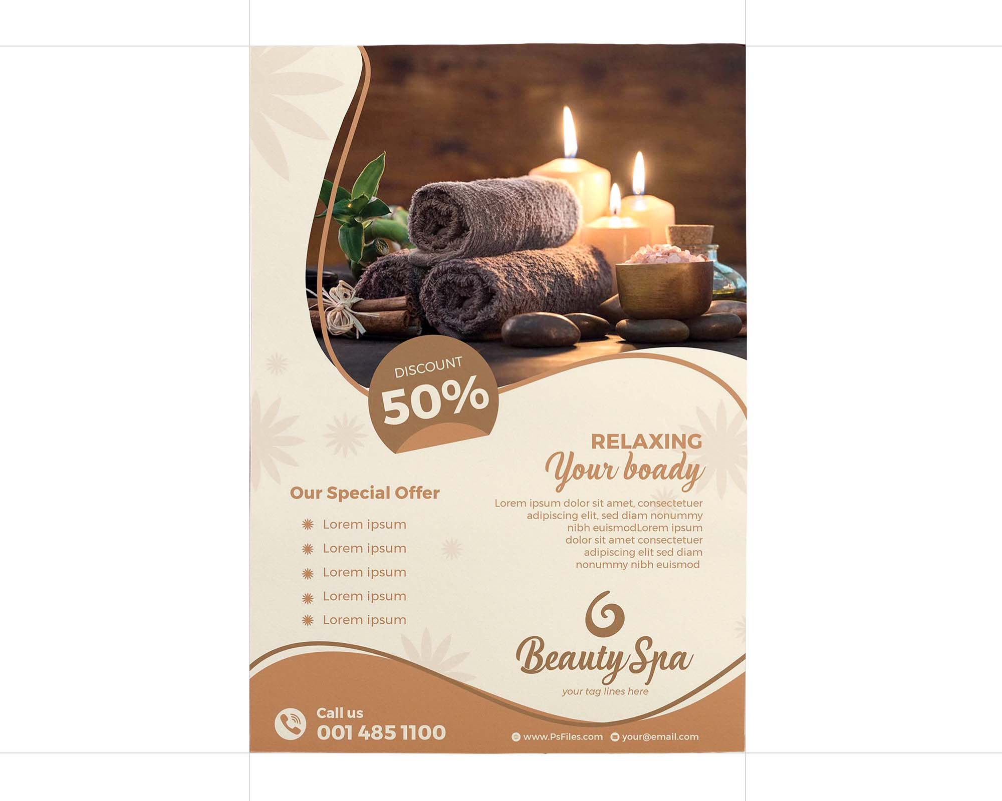 Luxury Beauty Spa Flyer Template 2
