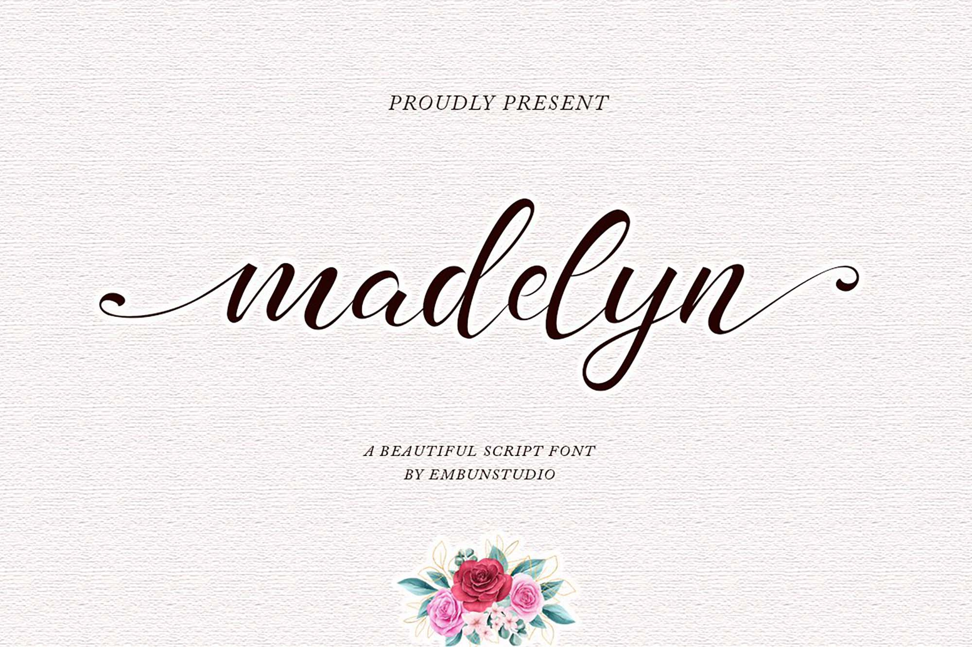 Madelyn Chic Script Font