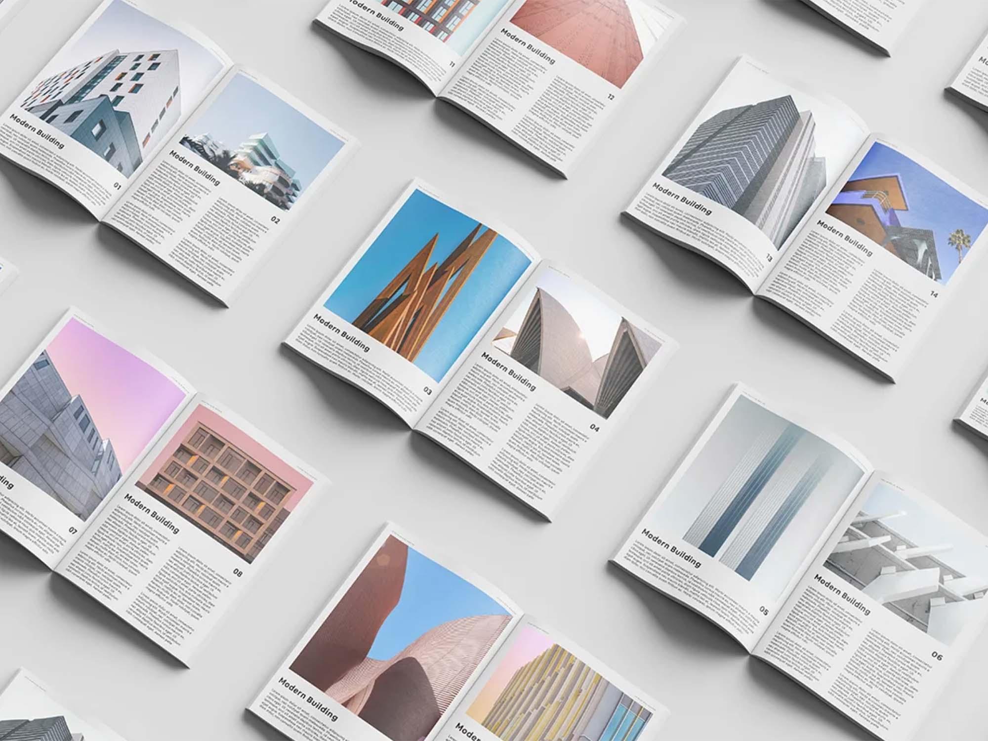 Magazine Set Mockup