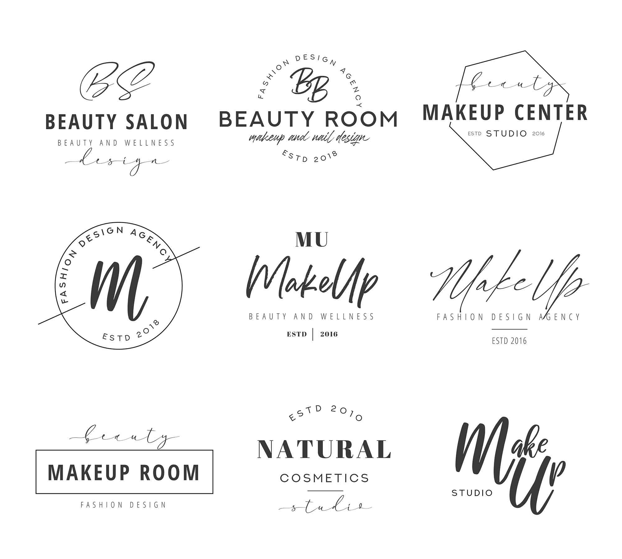 Makeup Logo Templates 2