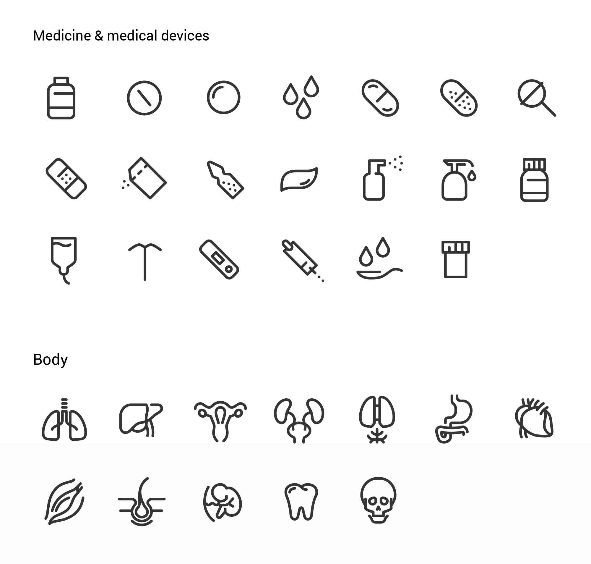 Medical & Pharma Icons