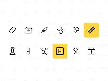 Medicine Line Icons