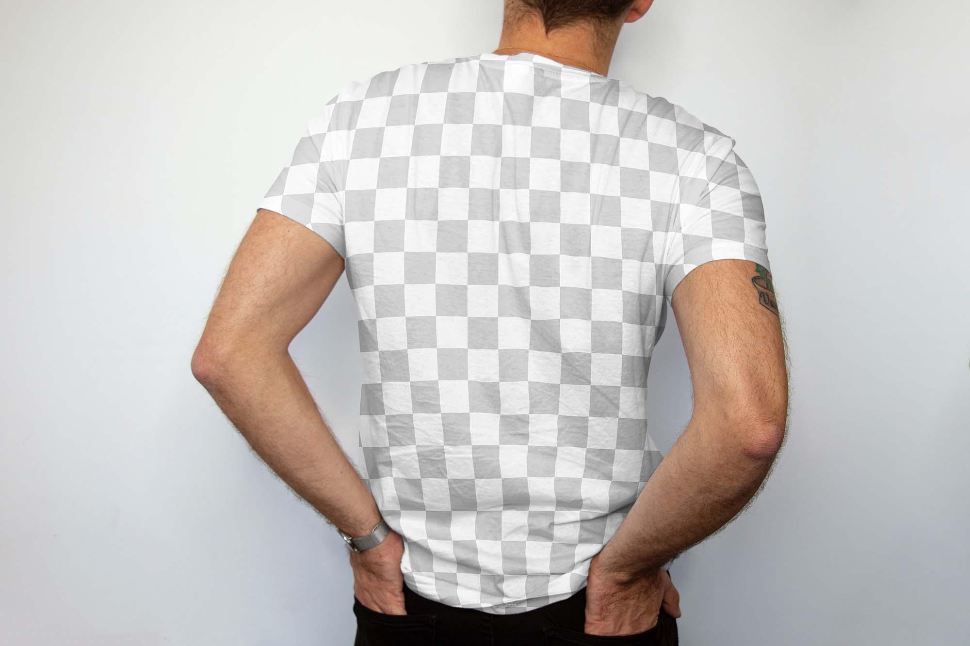 Men Backside T-shirt Mockup 2