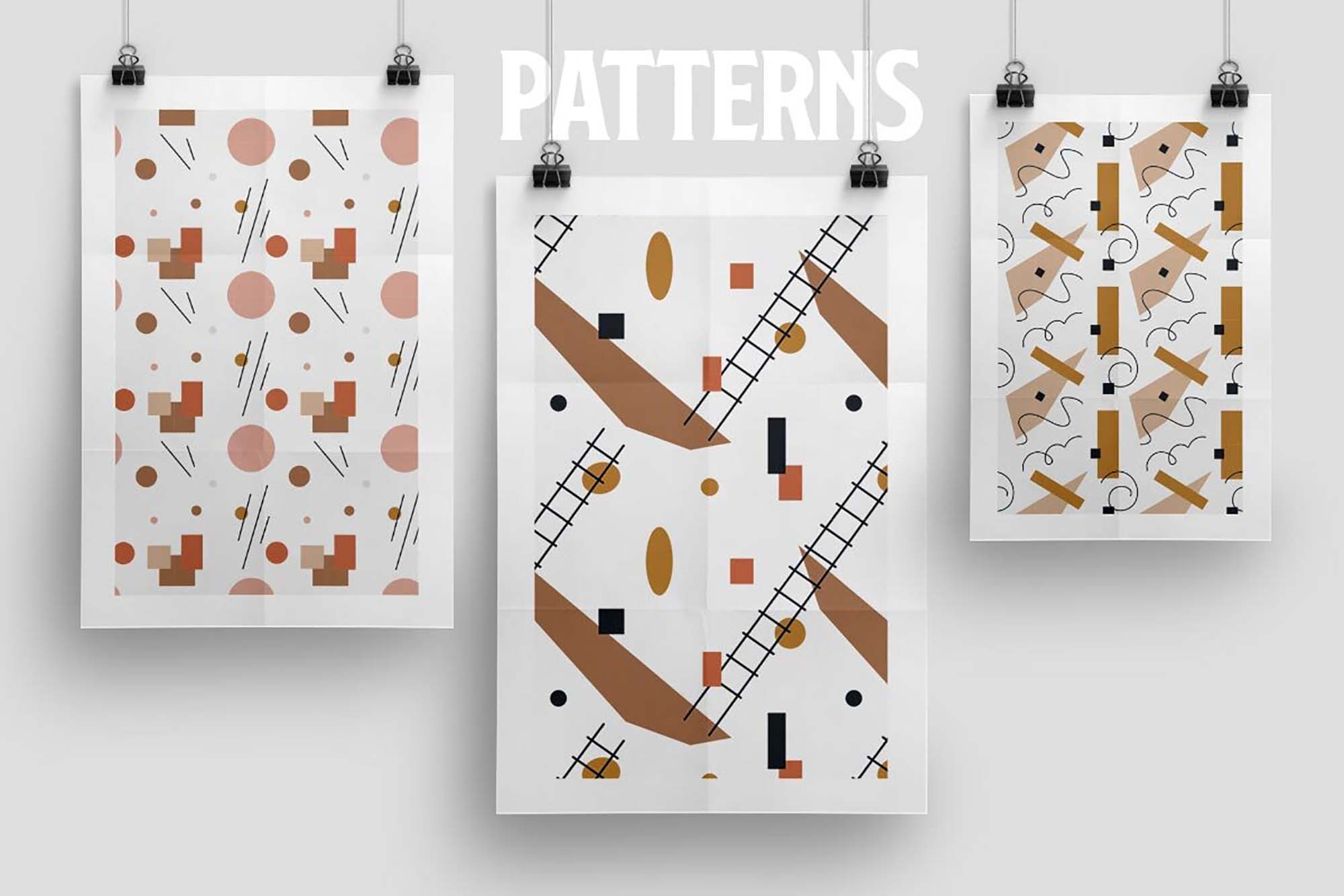 Modernist Abstract Vector Patterns 1
