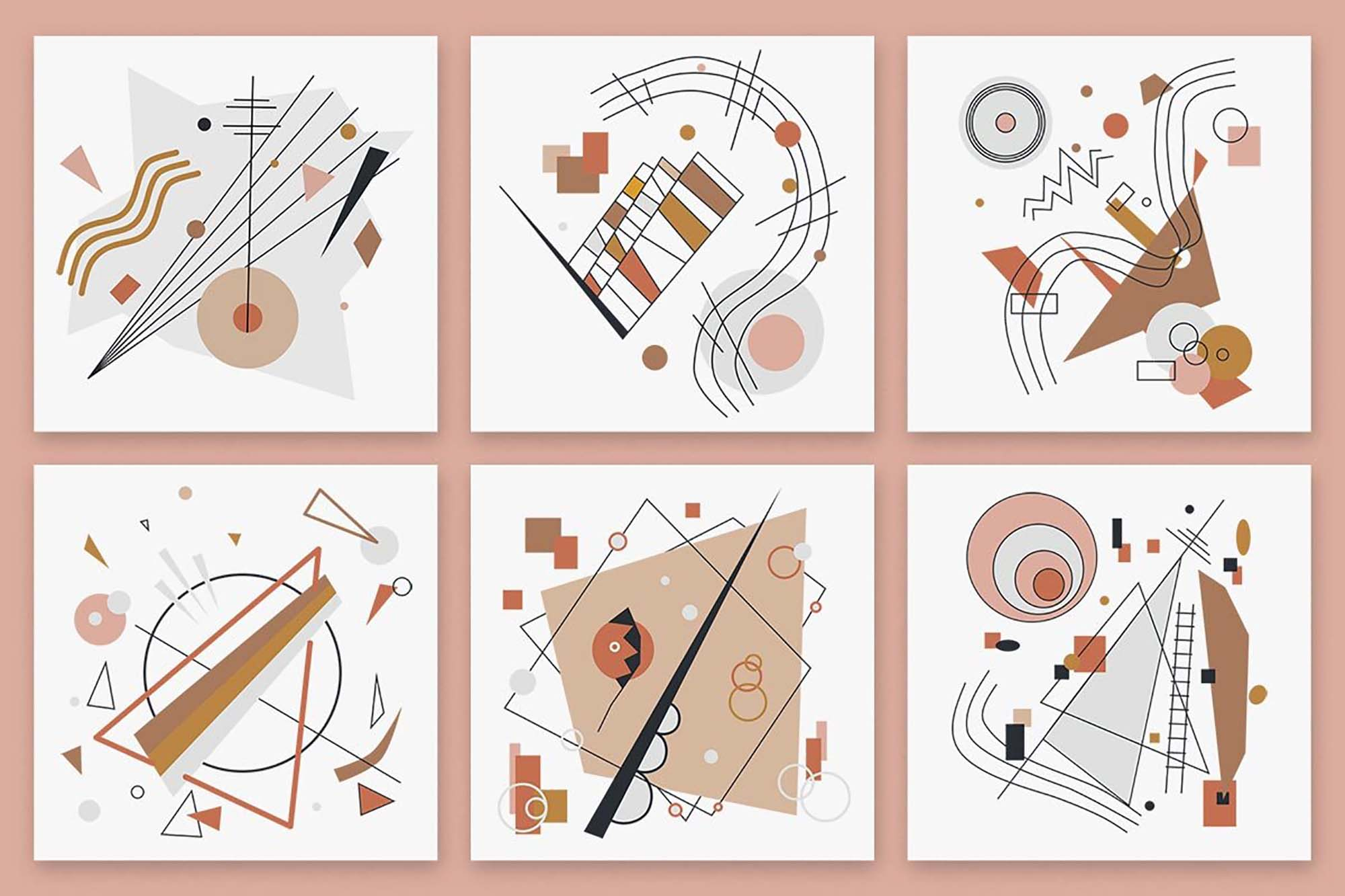 Modernist Abstract Vector Patterns 2