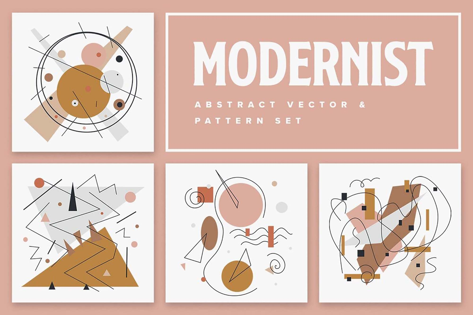 Modernist Abstract Vector Patterns