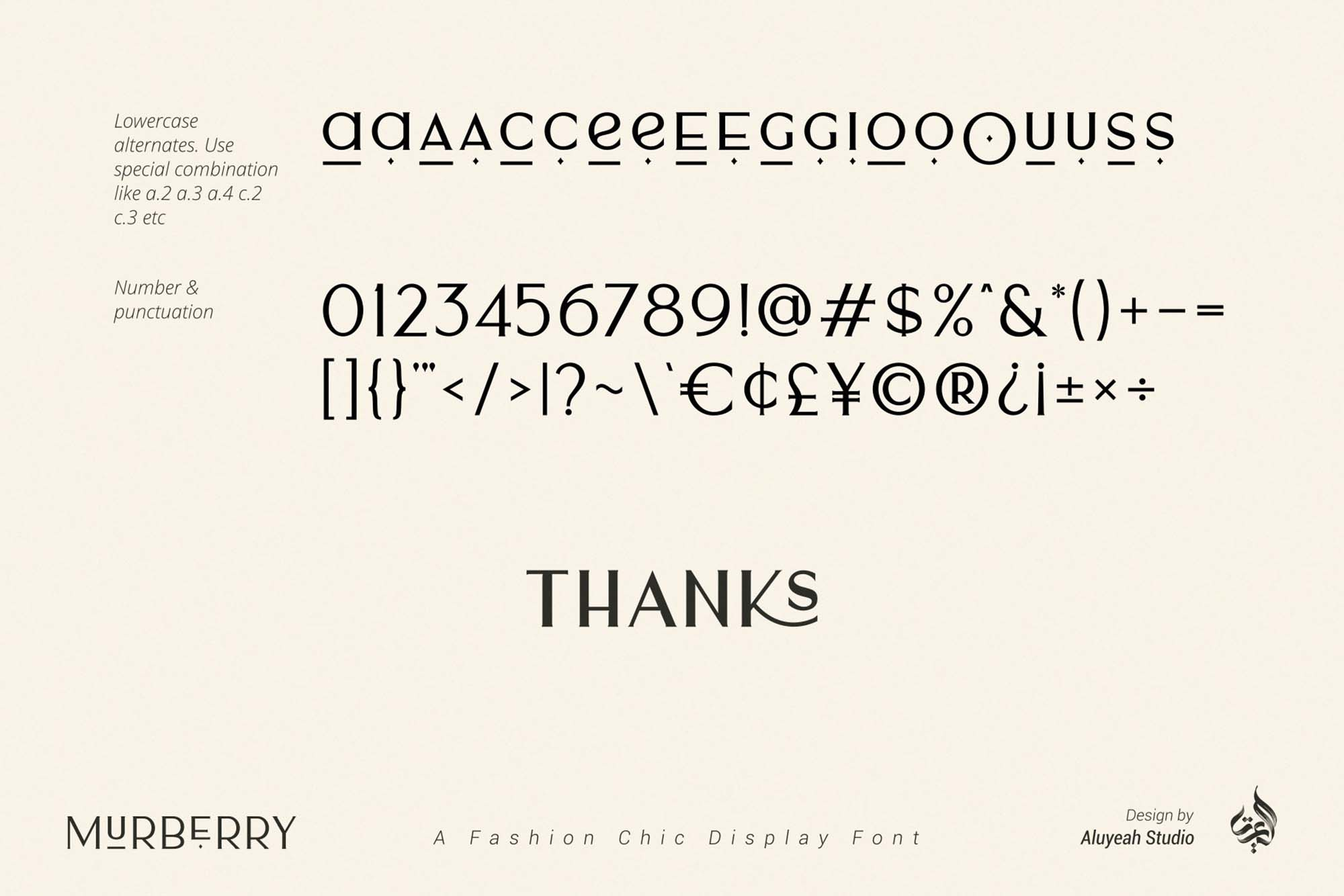 Murberry Fashion Font 10