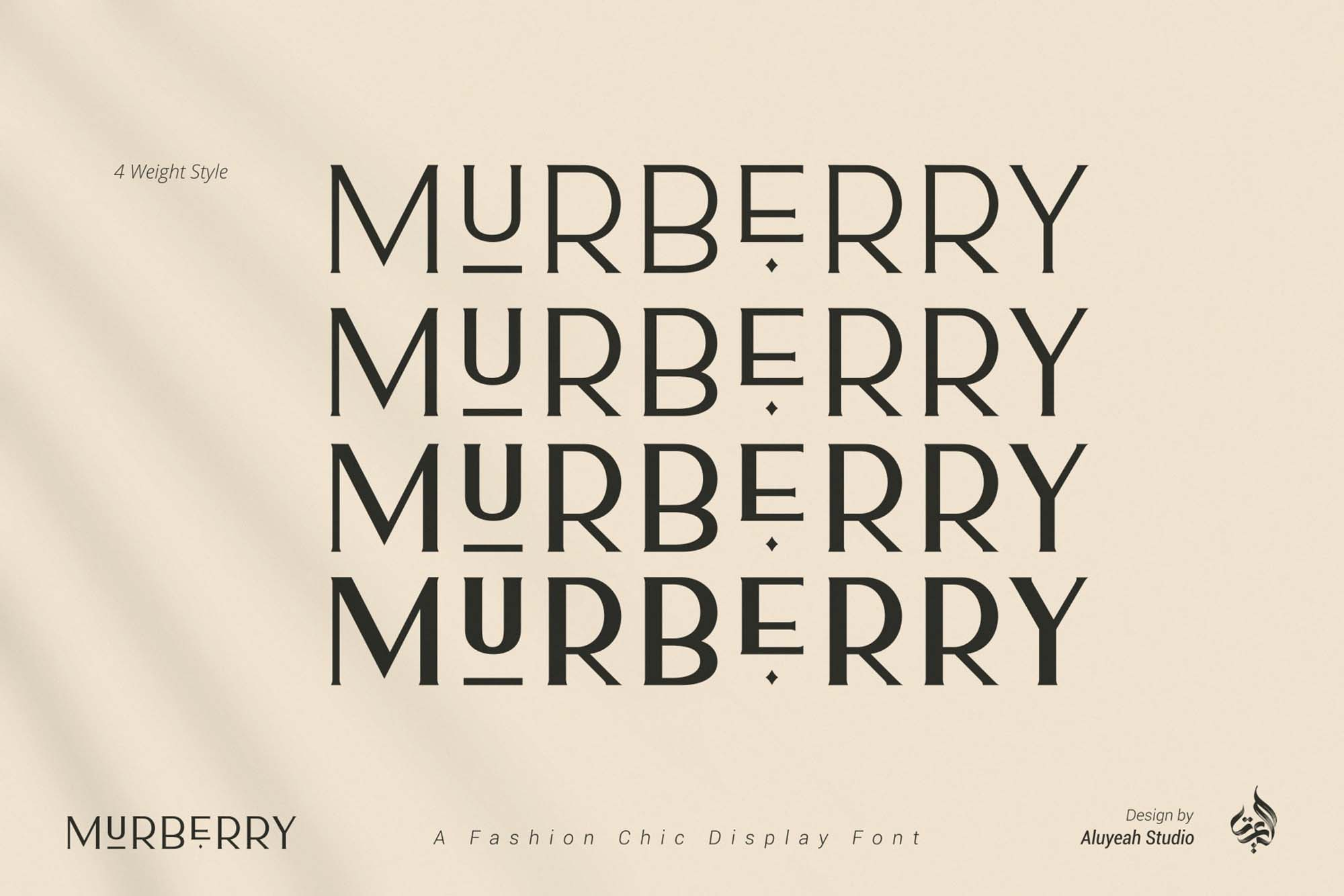 Murberry Fashion Font 6