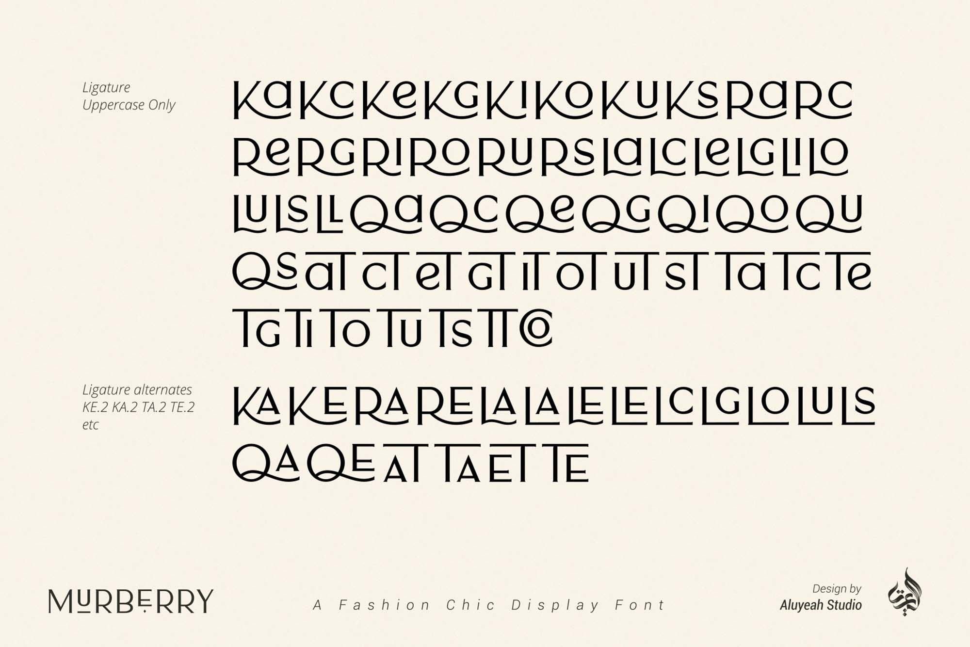 Murberry Fashion Font 9