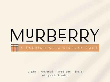 Murberry Fashion Font
