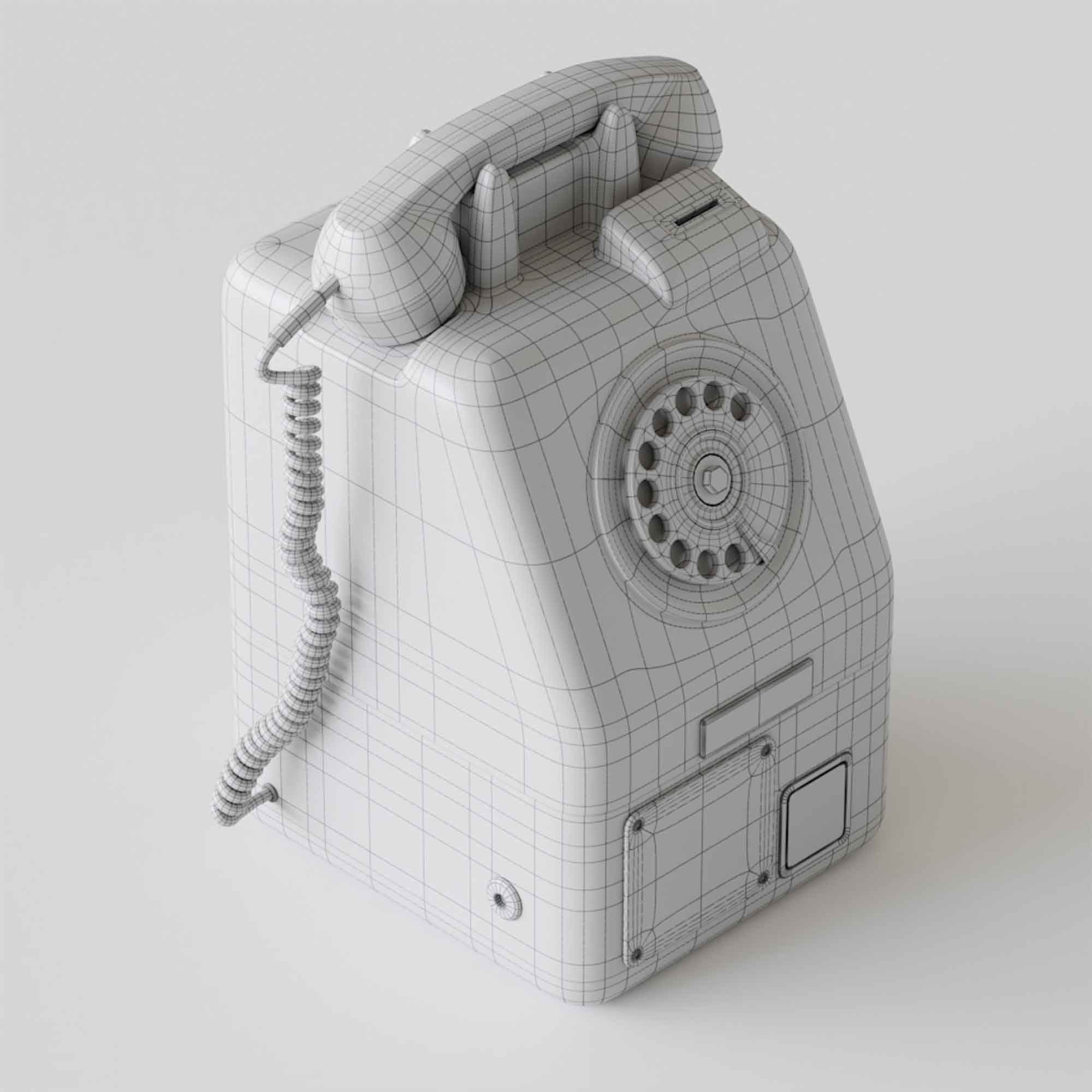 Retro Old Phone 3D Model 3