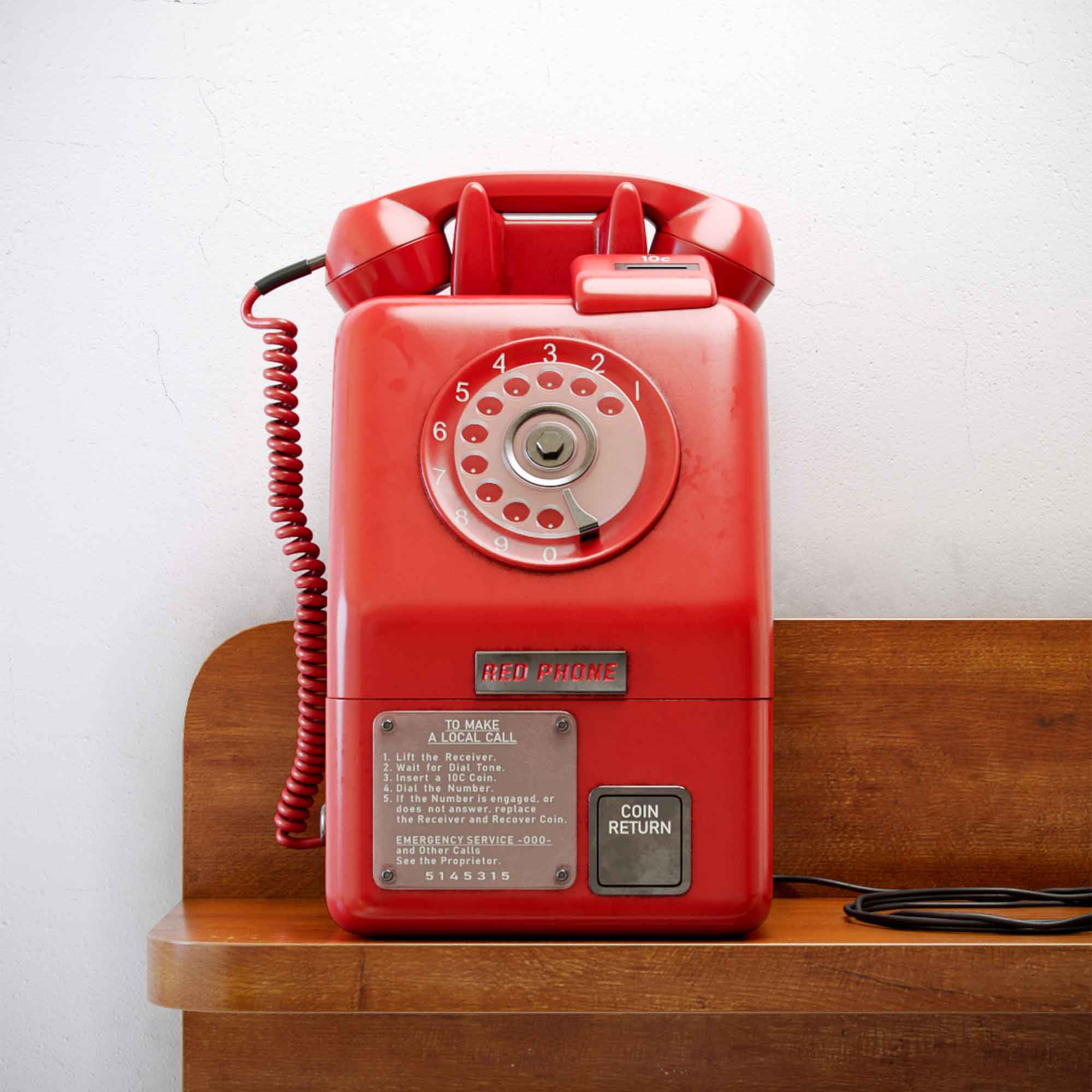 Retro Old Phone 3D Model