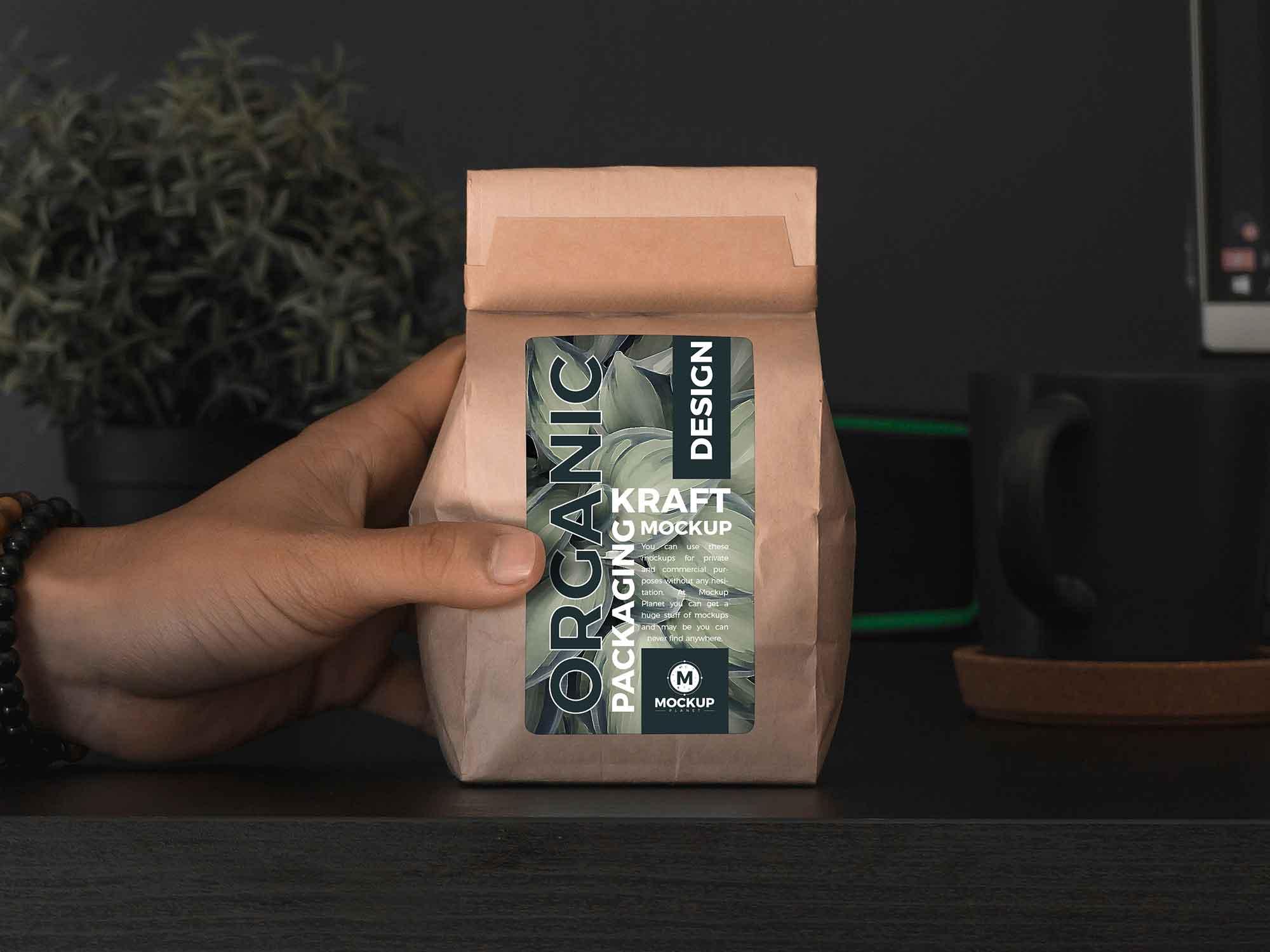 Organic Kraft Packaging Mockup