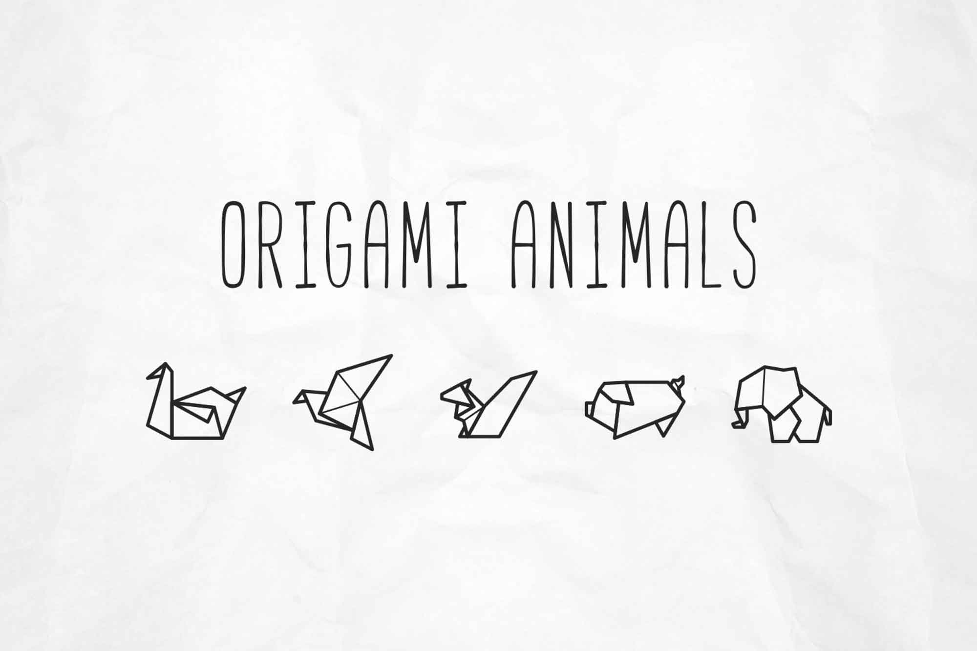 Origami Animal Vector Icons
