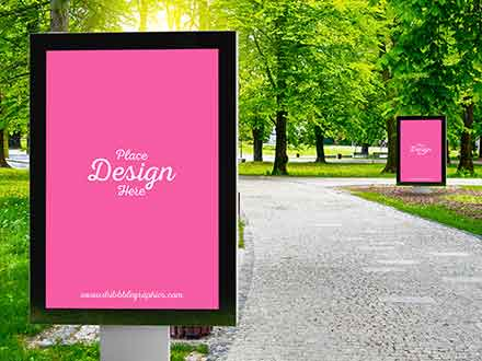 Outdoor Advertising City Lights Mockup