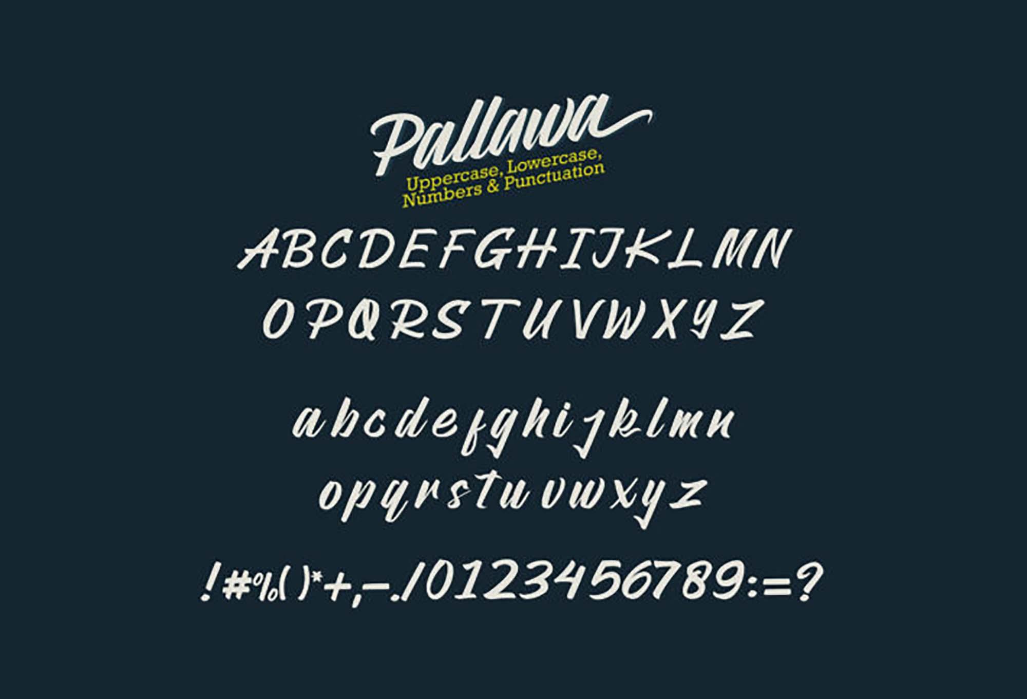 Pallawa Script Font 1