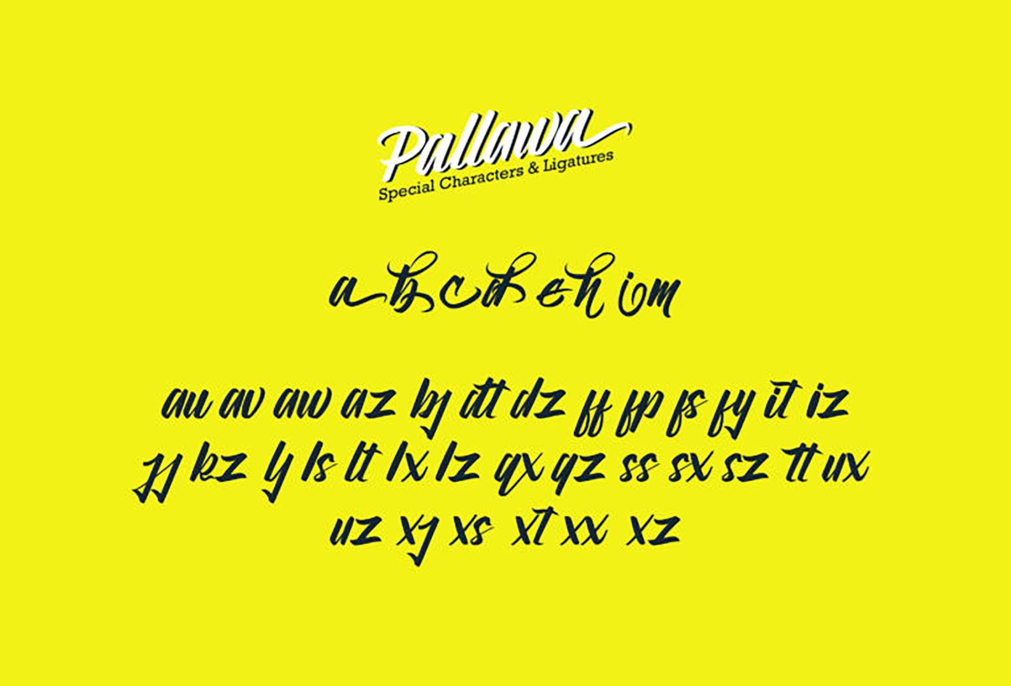 Pallawa Script Font 3