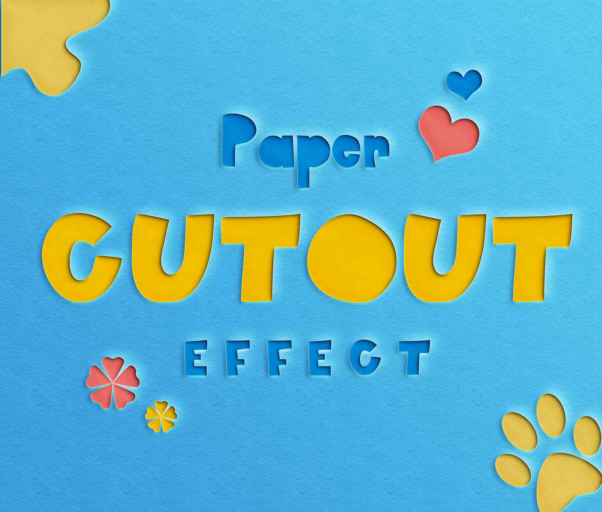 Paper Cut-Out Text Effect