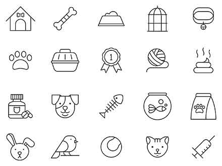 Pets Vector Icons