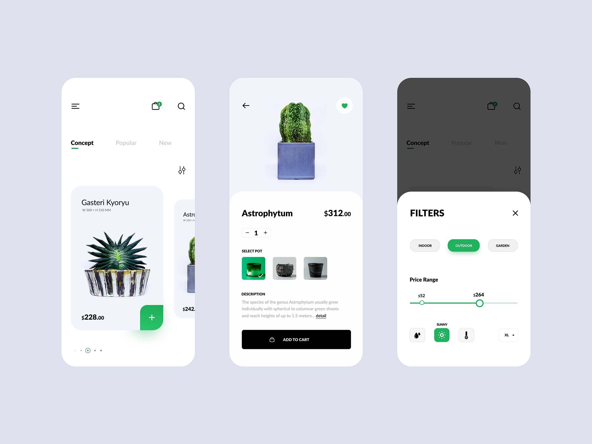 Plant Shop E-commerce App Template