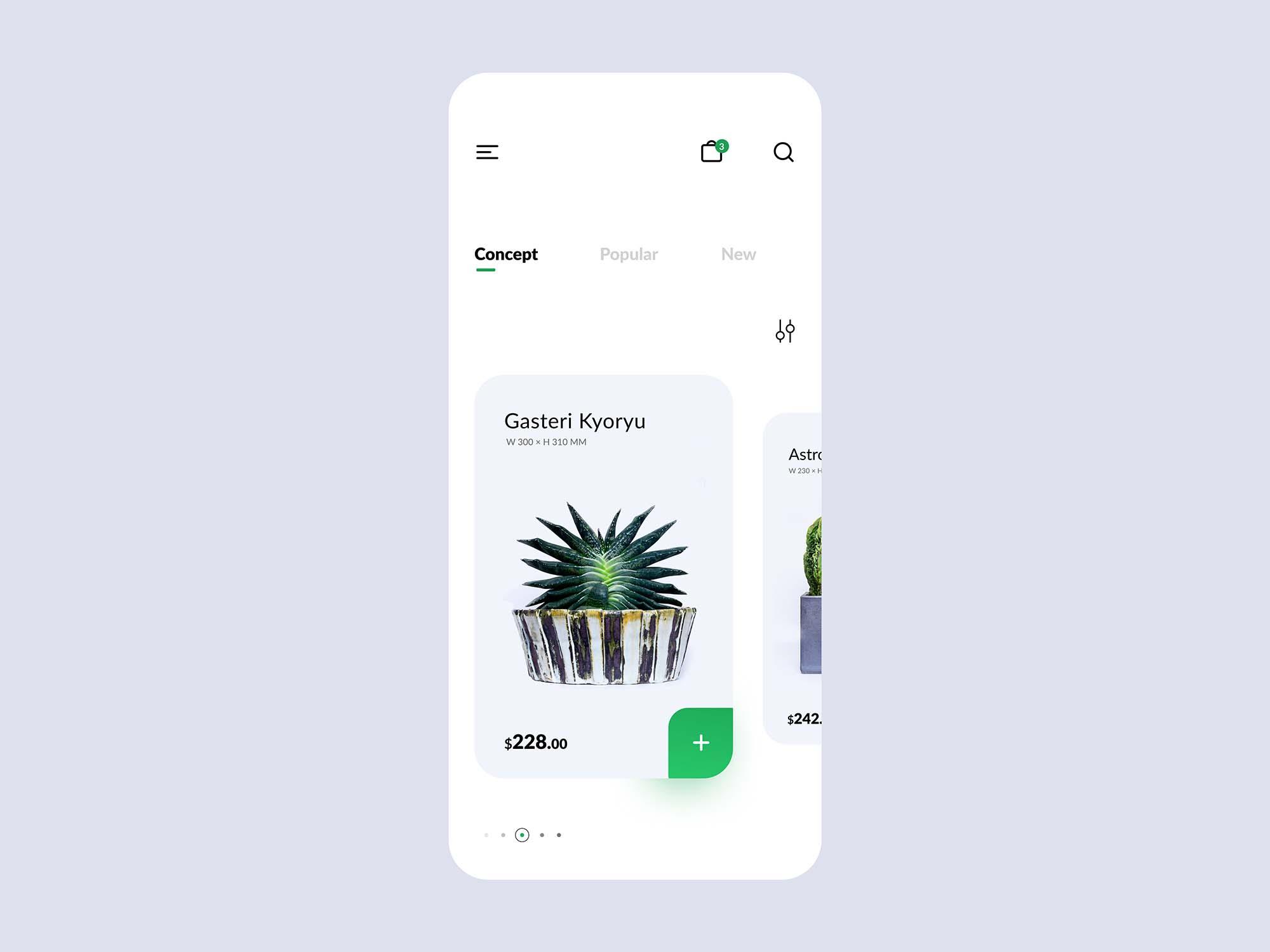 Plant Shop E-commerce App Template 2