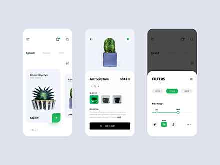 Plant Shop E-commerce App Template
