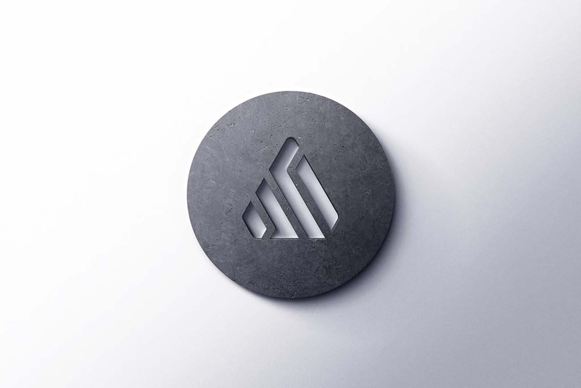 Realistic 3D Logo Mockup 1