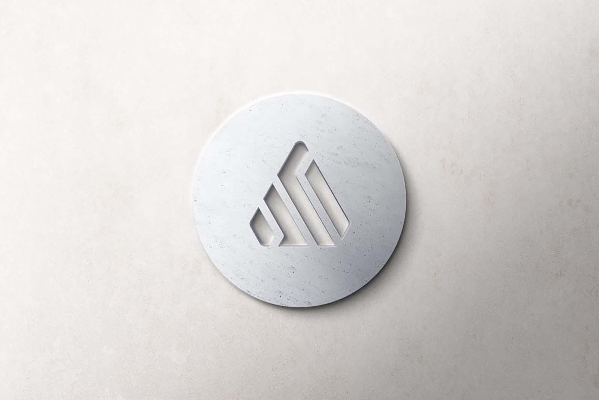 Realistic 3D Logo Mockup 2