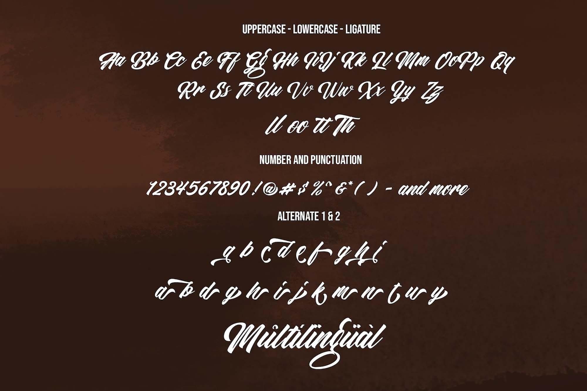 Restu Bundah Script Font 12