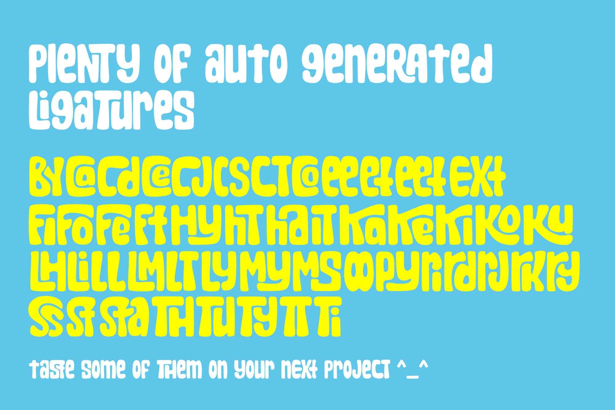 Sharkbit Display Font 3