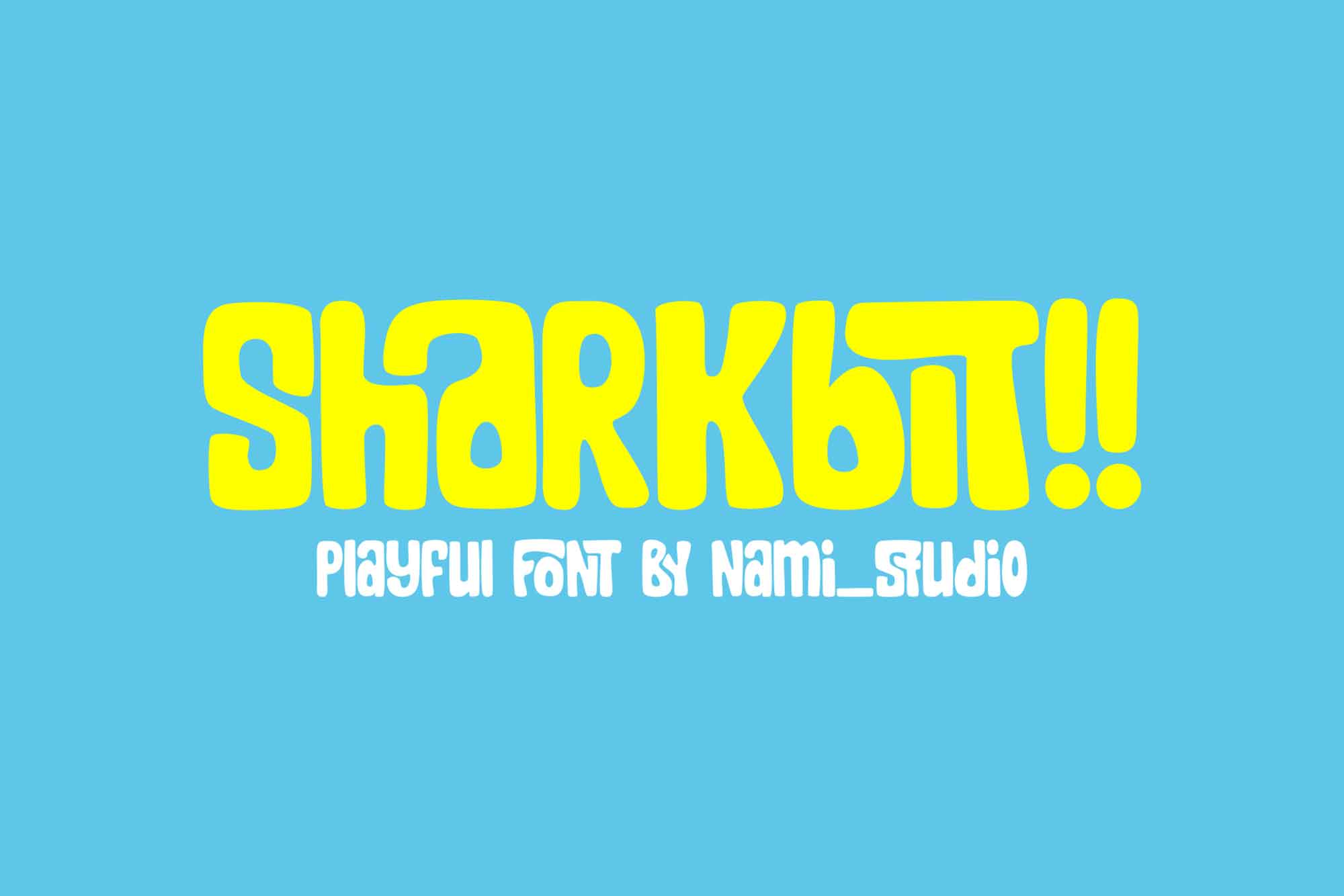 Sharkbit Display Font
