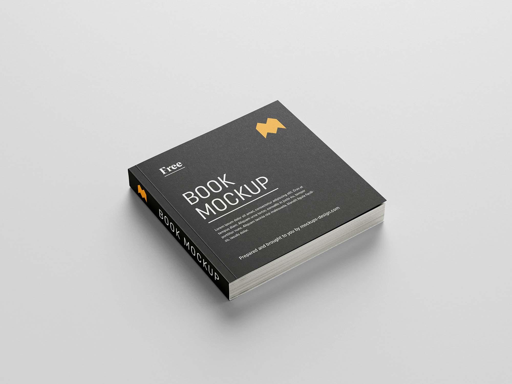 Square Book Mockup 1