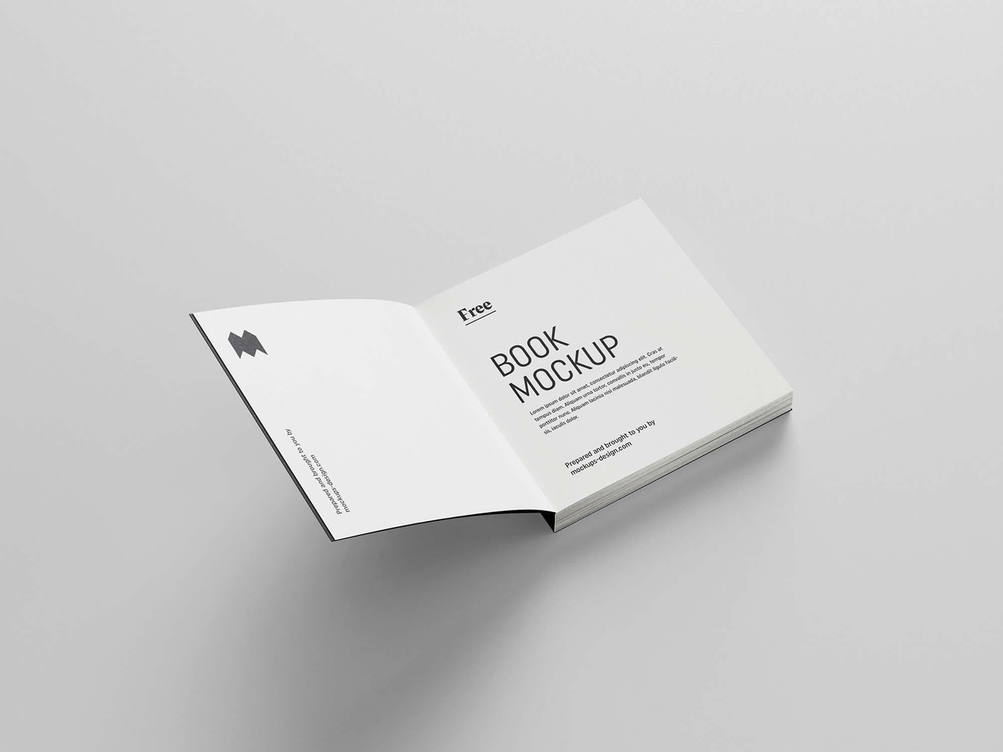 Square Book Mockup 4
