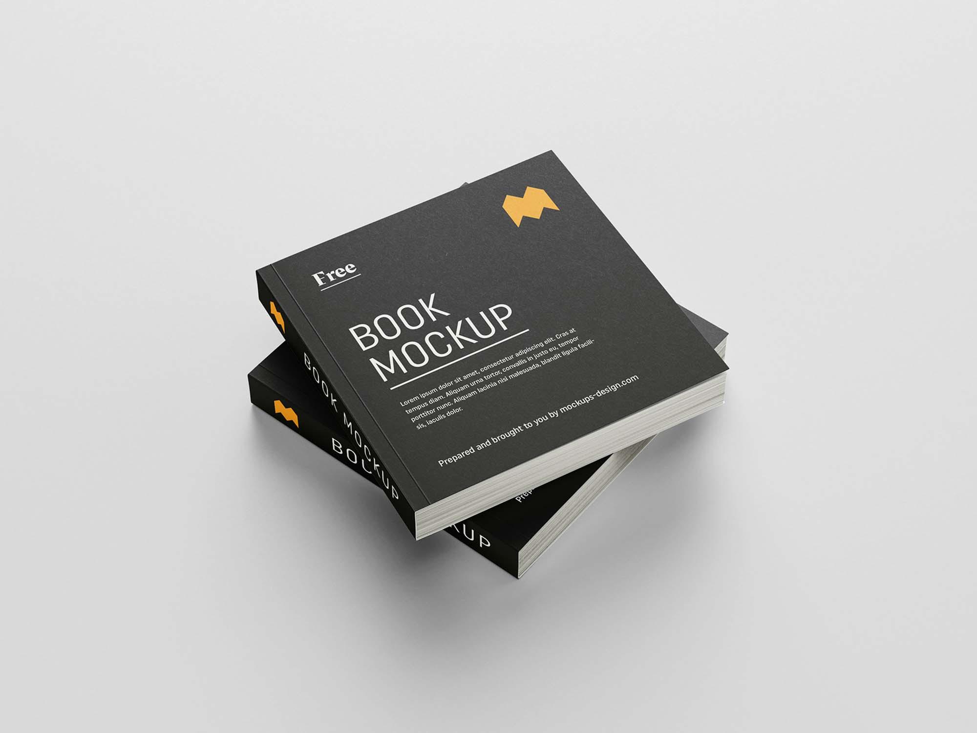 Square Book Mockup 5