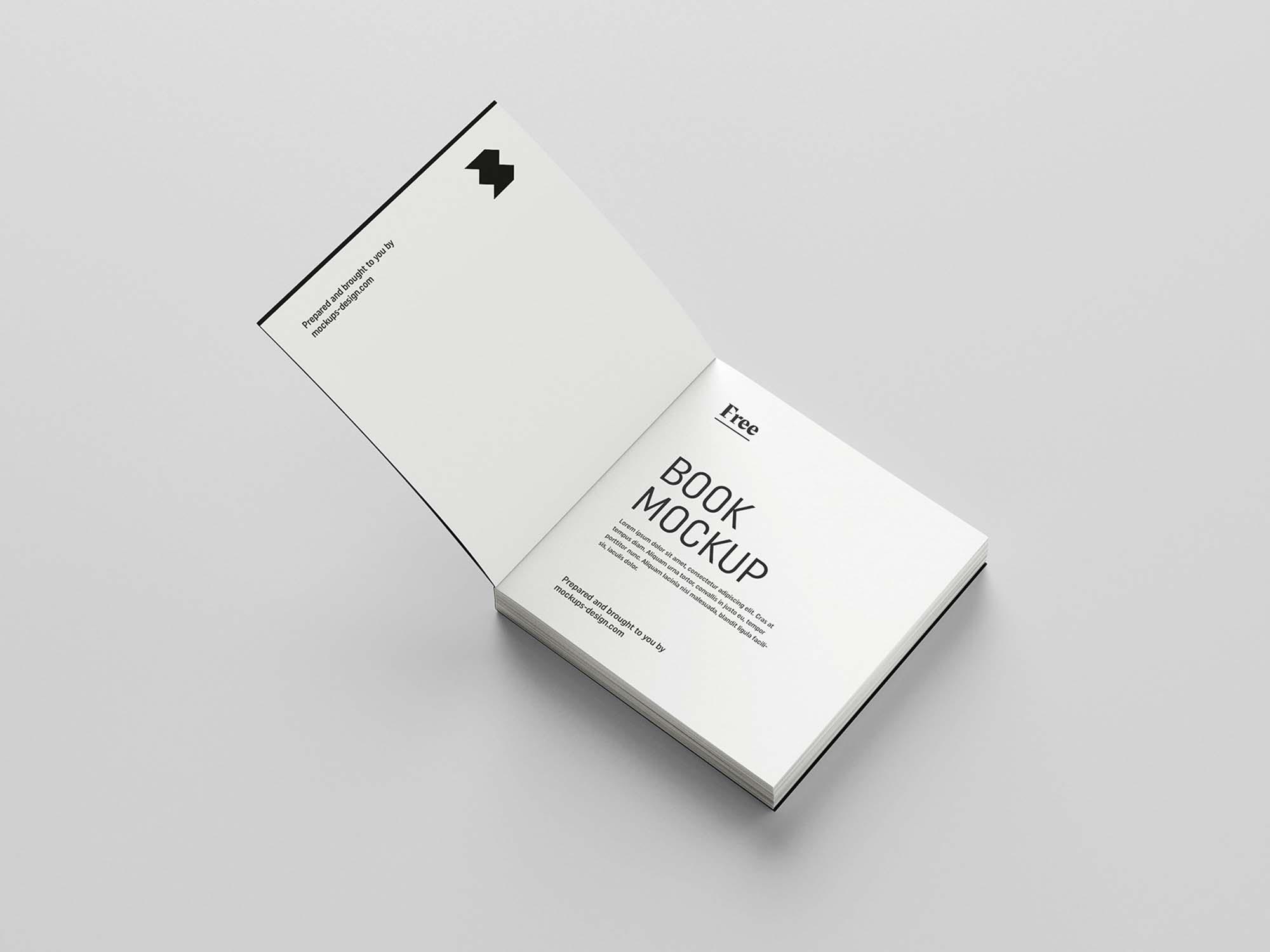 Square Book Mockup 6