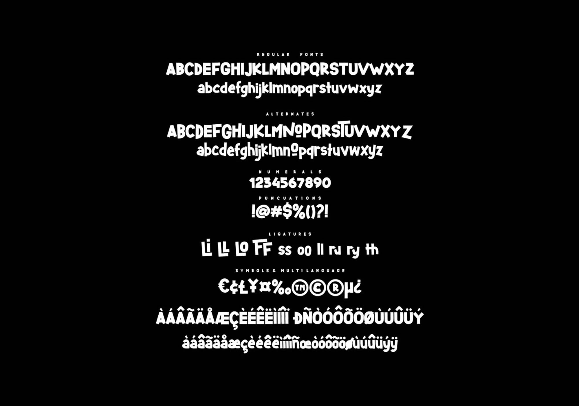 Starlight Display Font 6