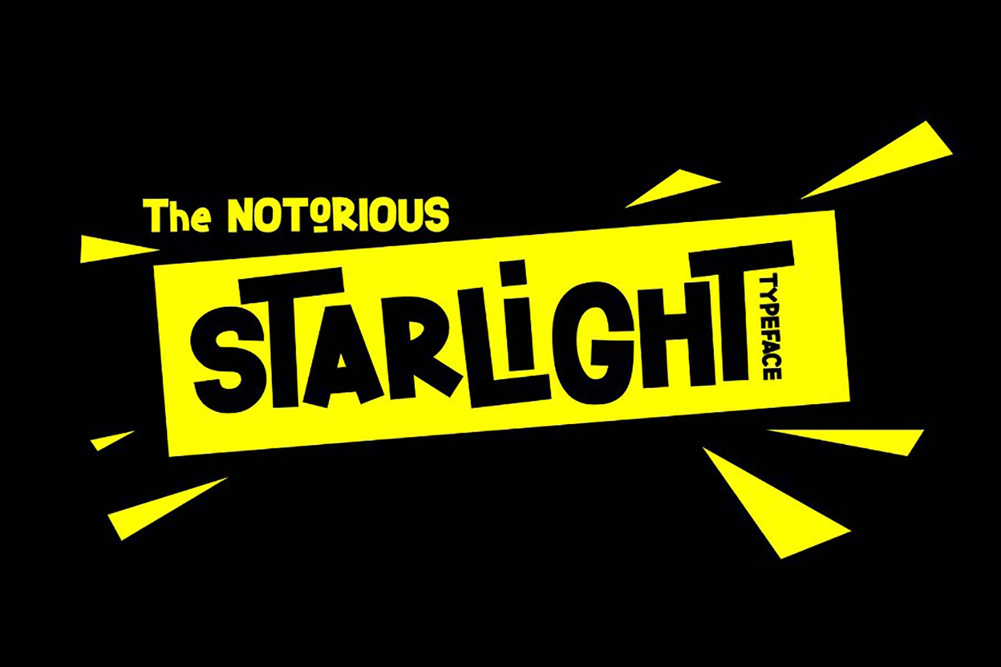 Starlight Display Font