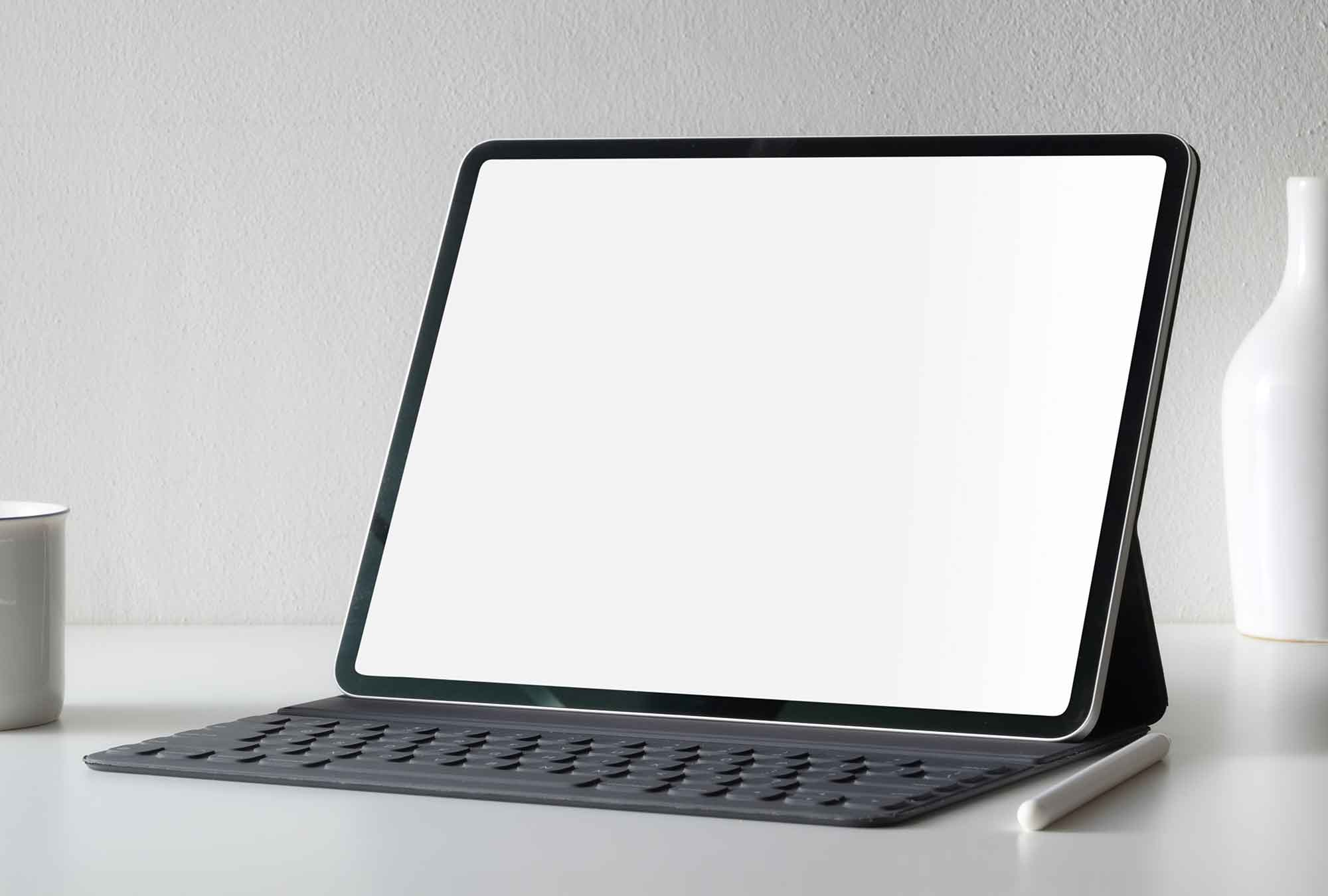 Tablet with Keyboard Mockup 2