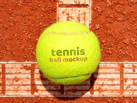 Tennis Ball Logo Mockup