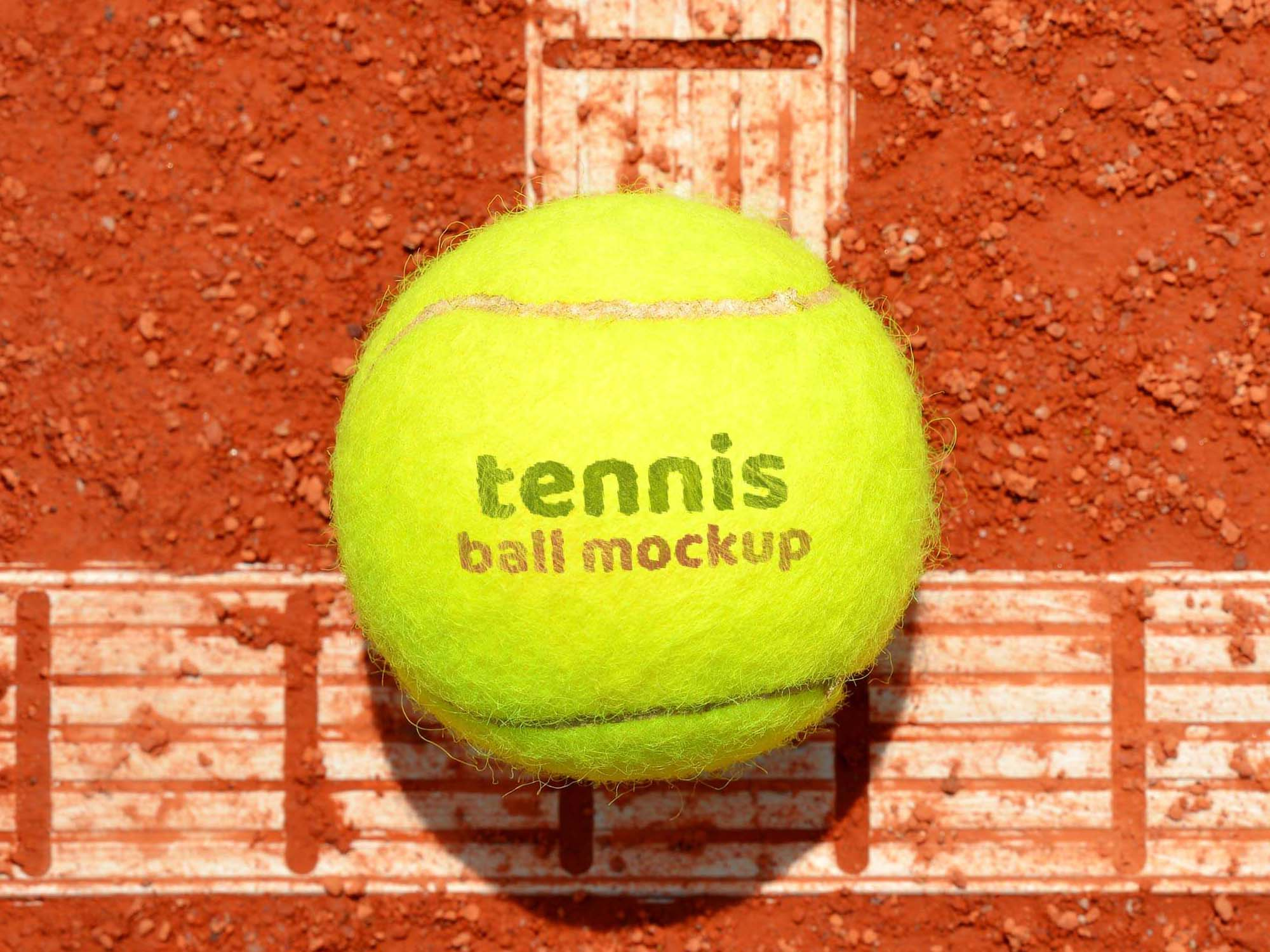 Tennis Ball Logo Mockup