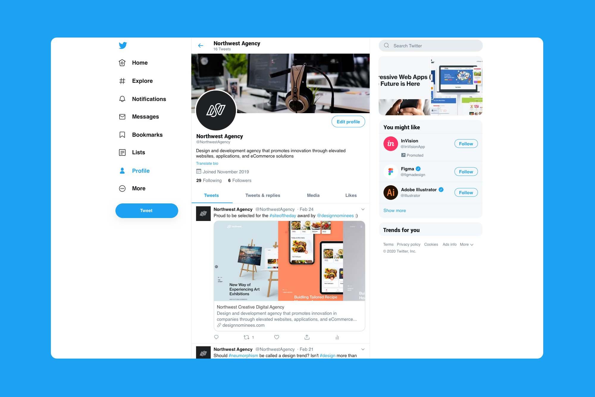 Twitter Mockup 2020